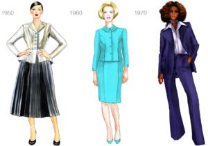 Women's dress code 1950-1970