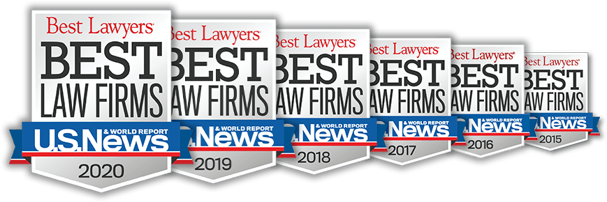 Best Law Firms awards 2015-2020