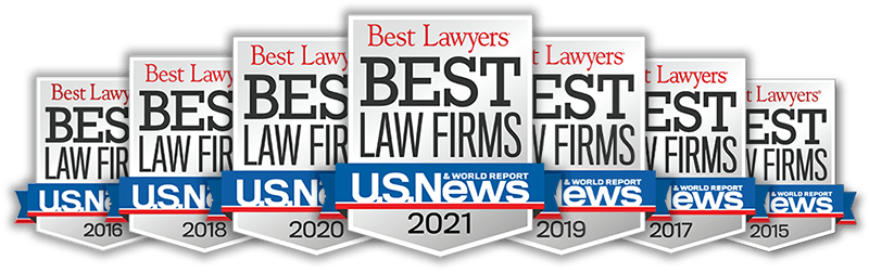 Best Law Firm award badge 2021